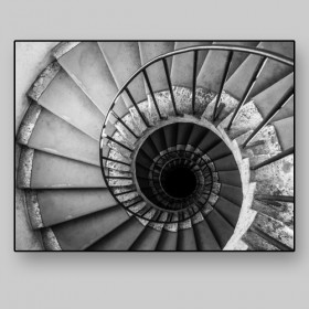 Historic building spiral staircase