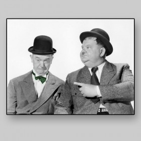 Laurel and Hardy as The Fat and the Skinny in Big Noise