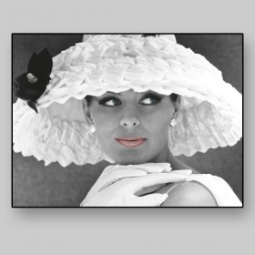 Model with hat, 1950s