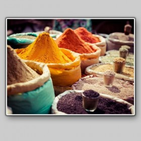Local market with spices, India