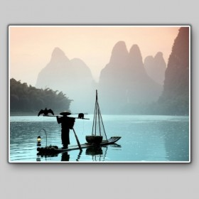 Chinese fisherman with a cormorant, China