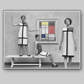 Yves Saint Laurent dressed as Mondrian, 1966
