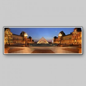 Panoramic view of the Louvre, Paris, France