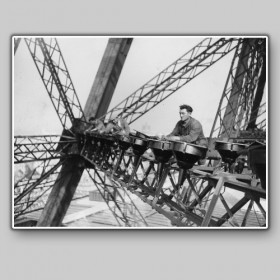 Workers Building the Eiffel Tower, 1889