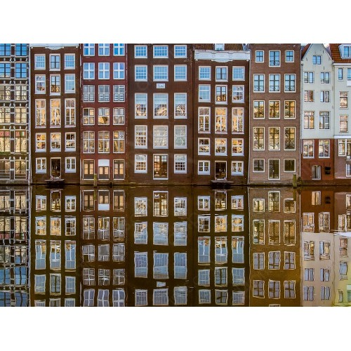 Reflection on the canal, Amsterdam