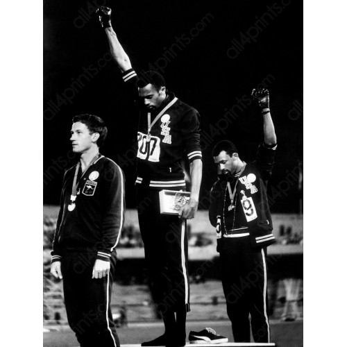 Tommie Smith and John Carlos at the Games in Mexico, 1968