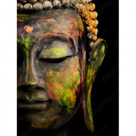 Polychrome budha picture