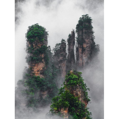 Zhangjiajie National Park famous for the rogaje of Avatar, China