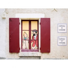 Tintin in the Castle of Cheverny, France