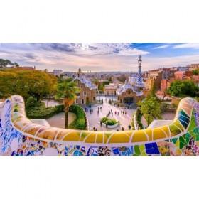 Park Guell in Barcelona, ??Spain