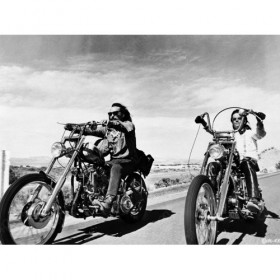 Dennis Hopper with Peter Fonda, on Easy Rider, 1969