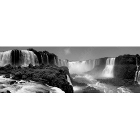Panoramic view of the Iguazú Falls, Brazil