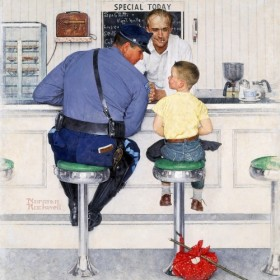 Norman Rockwell, The runaway
