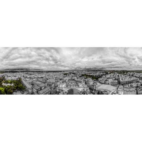 Panoramic view of the Vatican and Rome