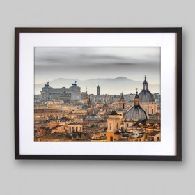 Rome from the Castle of Sant'Angelo, Italy