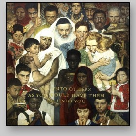 Norman Rockwell, The golden rule